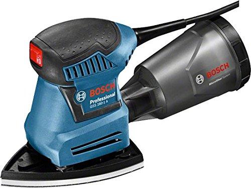 Preisvergleich Produktbild Bosch Professional Schwingschleifer GSS 160-1 A Multi, Staubbox inklusiv Microfilter, 3x Schleifblatt, 3x Schleifplatte, Lochwerkzeug, 1x Schraubendreher, L-Boxx Gr.2, 1 Stück, 06012A2300
