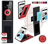 Obi Worldphone SF1 Hülle Cover Case in Rot Leder -