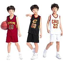 Chico Niños Hombre Cleveland Cavaliers Lebron James # 23 Pantalones Cortos de Baloncesto Camisetas de Verano