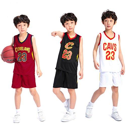 b45a861db9403 unbrand Cleveland Cavaliers Lebron James Short de Basket-Ball # 23 Maillots  d'été