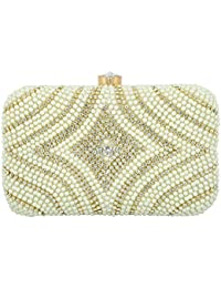 Tooba Handcrafted WHTB Women's Box Clutch (White)