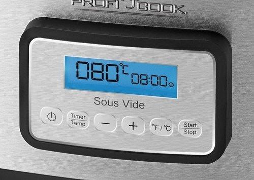ProfiCook Sous Vide–Schongarer Topf – Vakuum Kochen bei niedrigen Temperaturen - 3