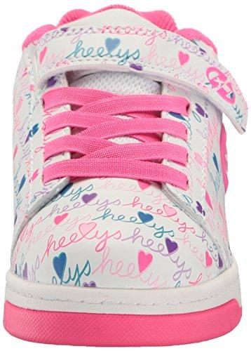 Heelys Mädchen Dual Up 770231 Lauflernschuhe Sneakers, Schwarz / Rosa Elfenbein (White / Pink / Multi)
