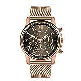 BBestseller Relojes Mujeres,Moda Accesorios Cuarzo Acero Inoxidable Relojes Fecha Reloj de Pulsera Casual Simple para Mujer (Negro)