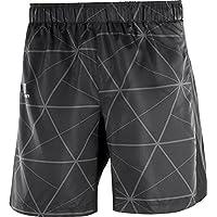 Salomon Agile 7'' Pantalones Cortos, Hombre, Negro/Blanco, S