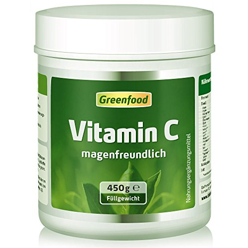 Schönen Körper Pulver (Vitamin C magenfreundlich, 450 g Pulver, gepuffert mit Calcium, vegan – für Immunsystem, schöne Haut, gesunde Gelenke und stabile Knochen. OHNE Gentechnik. Ohne künstliche Zusätze. Ohne Säure.)