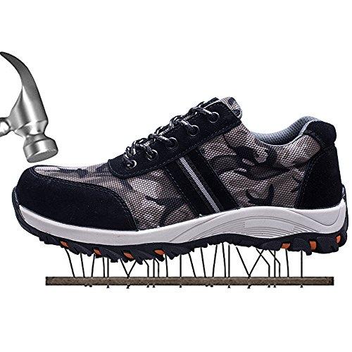SUADEX Damen Herren Sicherheitsschuhe Sportlich Trekking Wanderhalbschuhe Stahlkappe Arbeitsschuhe Hiking Schuhe Traillaufschuhe