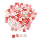 D DOLITY 110 Stücke Sortierte Glasstücke Mosaiksteine Bastelmix Dekoration Steine für Mosaikherstellung 200g - Wassermelonenrot