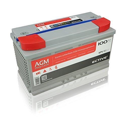 ECTIVE EDC-Serie | 12V AGM Versorgerbatterie | 7 Varianten: 65Ah - 230Ah | Deep Cycle / Vliesbatterie (VRLA) (100Ah)