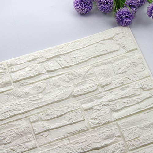 Zegeey DIY 3D Ziegel PE Schaum Tapete Panels Raum Aufkleber Wohnkultur Stein Dekoration Geprägte Wandaufkleber