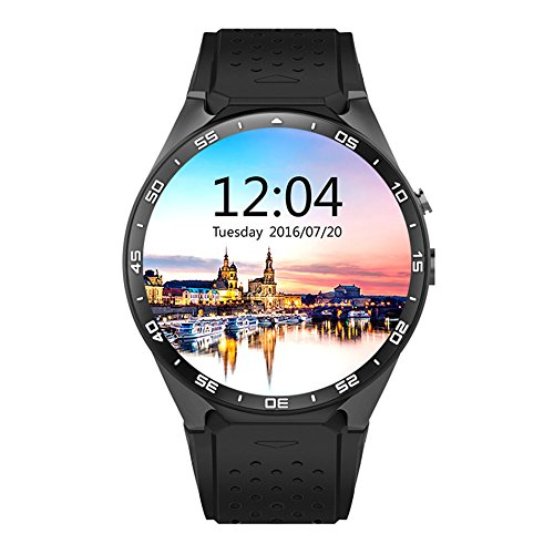 LENCISE Latest Android 5.1 Smart Watch Phone MTK6580 CPU 1.39 Inch 400*400 Screen 2.0MP Camera Smartwatch for Apple Huawei Cellphone. (Reloj Digital Sony)