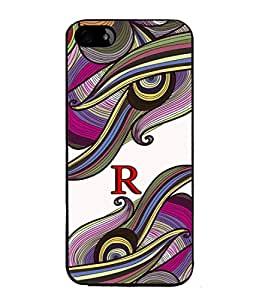 FIOBS abstract colourful vibrant design alphabet initial R Designer Back Case Cover for APPLE IPHONE 5SE