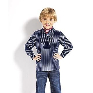 Fischerhemd für Kinder breit gestreift klassischer Stil von Modas Größe 158