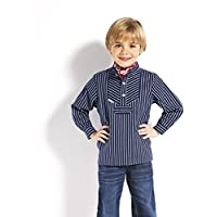 Fischerhemd für Kinder breit gestreift klassischer Stil von Modas alle Größen