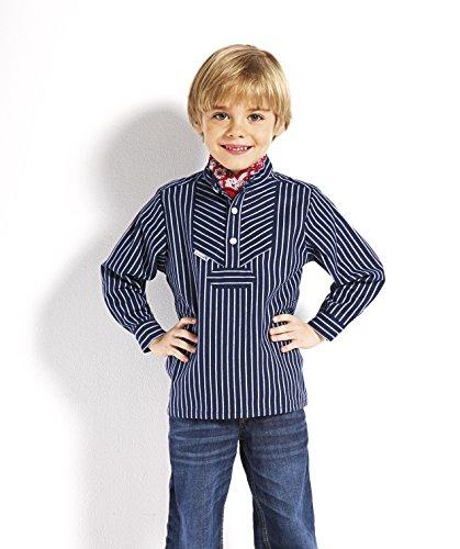 Fischerhemd für Kinder breit gestreift klassischer Stil von Modas Größe (Kostüm Kleinkind Matrose Mädchen)