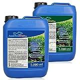 AquariumDirekt Wasseraufbereiter & Pflanzendünger Spar-Set 2 x 5 Liter (GRATIS Lieferung in DE - Wasseraufbereiter und Pflanzenpflege für Ihr Aquarium - Nährstoffe, Spurenelemente)