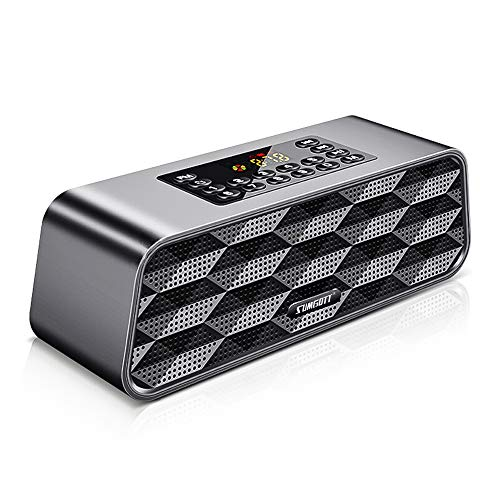 Altavoz Bluetooth SUMGOTT Digital Radio FM, Reproductor de MP3 Portát
