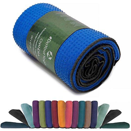 Manta para yoga »Chandra« / La manta para yoga pensada para Hot Yoga / complemento para ejercicios de yoga y para la relajación posterior / 183 x 61 cm, disponible en muchos colores / azul claro