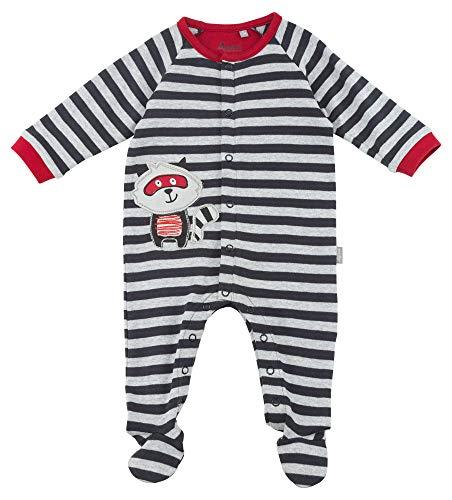 Sigikid Jungen Overall, Baby Strampler, Mehrfarbig (Grey Melange Abk 39 88), 62