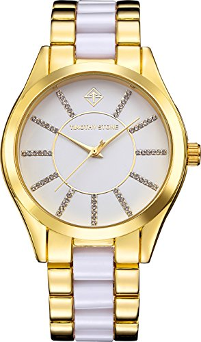 Timothy Stone - Charme Bicolor - Montre Femme - Or, Blanc