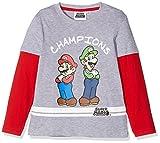 Nintendo Super Mario Bros 161543, T-Shirt Bambino, Grigio, 6 Anni (Taglia Produttore: 6 Anno)