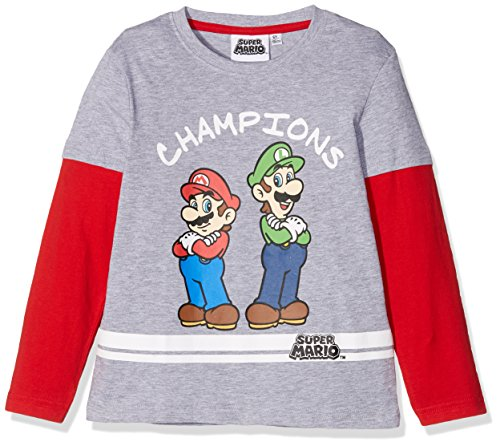 Super Mario Bros Chicos Camiseta mangas largas - Gris - 128