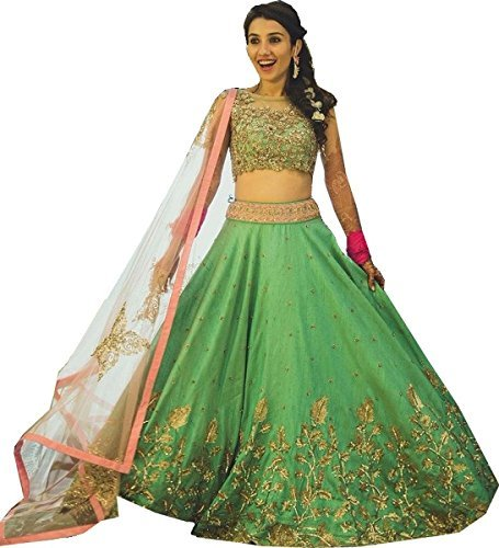everest-new-attractive-green-banglori-with-net-lengha-choliea009-00262-freesize-pastlegreen