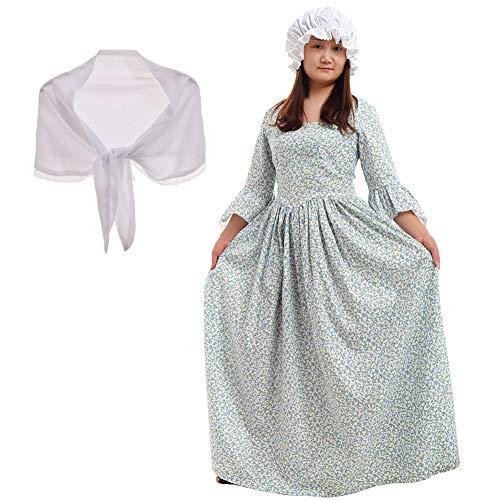GRACEART Victorian maid Kleid Pionier Colonial Woman Kostüm Kleid (6, ()