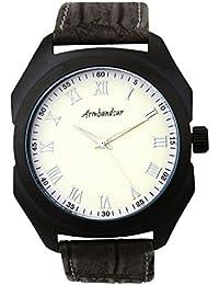 Armbandsur Analog white dial matt black case Tonneau Watch-ABS0013MBB