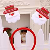 (Pack Of 4) Christmas Colorful Decoration Headbands Head Of Santa Claus Adult Christmas House Party Christmas Gifts