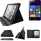 K-S-Trade Kiano Slimtab 8 MS Schutz Hülle Business Case Tablet Schutzhülle Flip Cover Ultra Slim Bookstyle Tasche für Kiano Slimtab 8 MS, schwarz. Kunstleder Qualitätsware