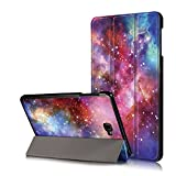 Xuanbeier Ultradünne Pu Leder Hülle für Samsung Galaxy Tab A 10.1 SM-T580/T585 mit Standfunktion , Galaxy