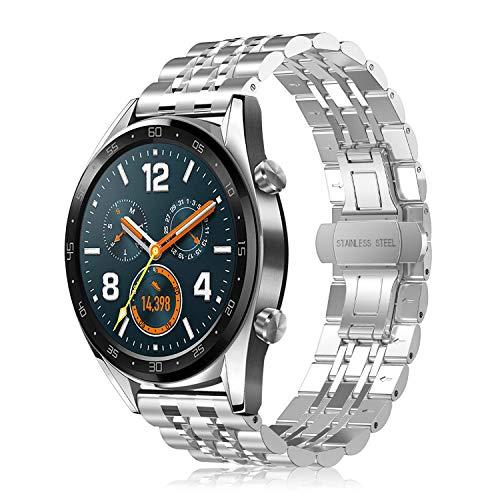 FINTIE Cinturino per Huawei Watch GT/GT 2 / GT Active/GT Elegant smartwatch - Cinturini di Ricambio in Acciaio Inossidabile Banda...