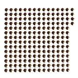 B Blesiya 200 Pezzi 3D Pesce Occhi Esche Artificiali Fai da Te-Epossidico - Rosso
