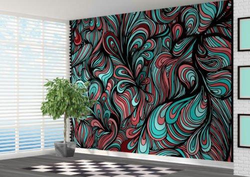 funky abstract pattern wallpaper wall mural wall art abstract 2xl