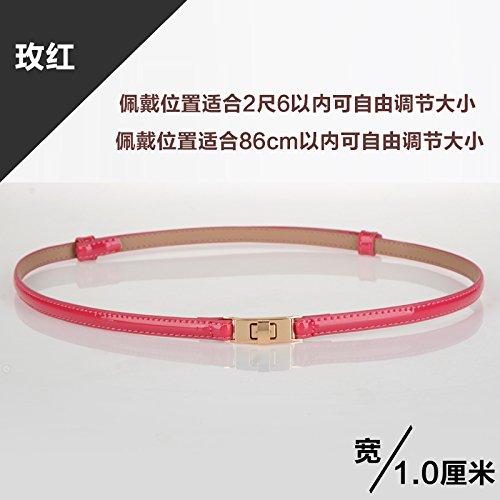Zhangyong*la sig.ra giro in yi gonna verniciati cintura di pelle bella wild candy colorata vita moderna link ripartizione femmina , il rosso