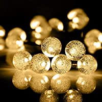 Fairy String Lights, GDSZHS 5M 50 LEDs Crystal Ball String Lights LED Garden Lights Xmas Light Starry Lights for Garden, Home, Wedding, Patio,Holiday Party (Warm White 03)