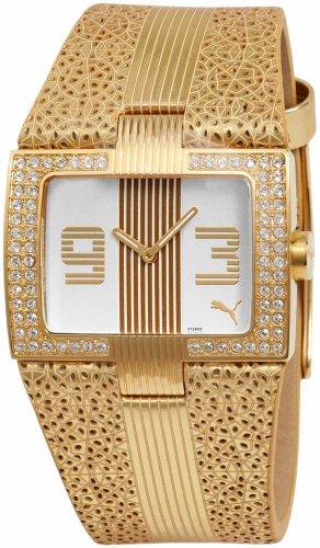 Puma Time - 4419847 - Montre Femme - Quartz Analogique - Bracelet Plastique Doré