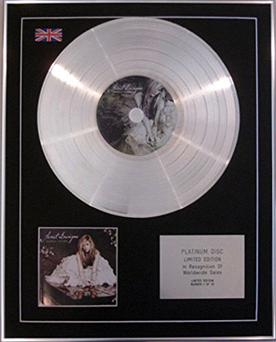AVRIL LAVIGNE-Limited Edition CD Platinum Disc-GOODBYE LULLABY