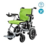 Electric Wheelchair Lightweight Wheelchair, Dual-function Heavy-duty, Open/fast-fold Compact Electric Chair Drive with Power or Manual Wheelchair 12-mile Range 45cm Wide Seat