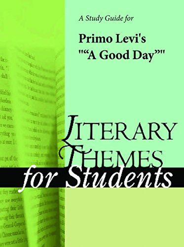 A Study Guide for Primo Levi's