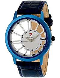Svviss Bells™ Original Transparent Design White Dial Blue Strap Analog Wrist Watch For Men - TA-893