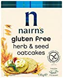 Nairns Gluten Free Herb Oatcakes 135 g (Pack of 12)
