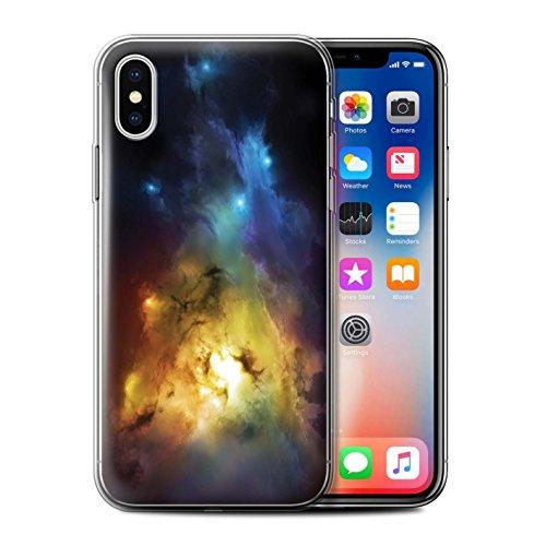 Offiziell Chris Cold Hülle / Gel TPU Case für Apple iPhone X/10 / Elektro-Sturm Muster / Fremden Welt Kosmos Kollektion Arcularius Nebel