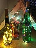 TedGem Bottle Cork Lights,Bottle Lights, 6 packs Warm White and Multi-color Artificial Cork Wine Lights, Cooper Wire Starry Indoor String Lights for Christmas/Wedding/Party/Halloween/Decoration