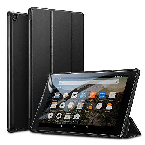 ESR Cover per Tablet Fire HD 10, Custodia Leggera Con Supporto Magnetico Con Funzione Auto Sleep, Fodera in Microfibra, Case Posteriore Rigida per Tablet Fire HD da 10 Pollici 7a Generazione (2017)