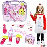 Planet of Toys Pink Doctor Play Set with Light 15Pieces