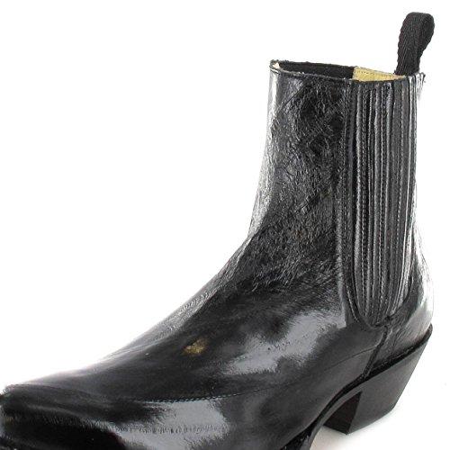 Tony Mora  621, Bottes et bottines cowboy homme Noir - Anguila Negro