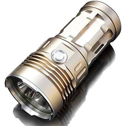 6000 lúmenes 3x CREE XM-L2 luz de la linterna, Foco reflector vendiendo bien del poder más elevado de la buena calidad súper T6 (Oro)