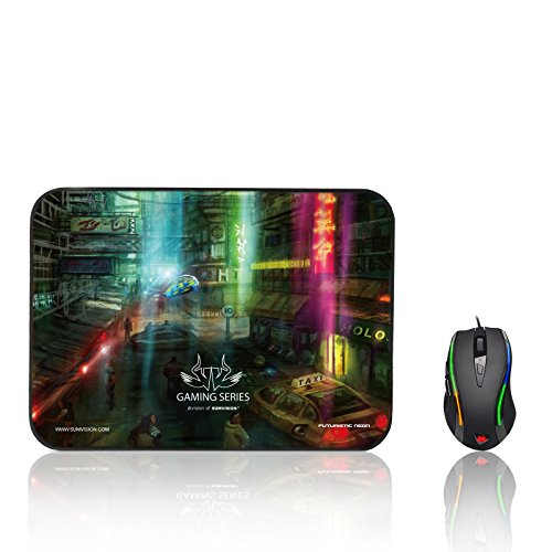 PC Advisor 2016/17 Winner Sumvision Gaming Mouse Kata Programmable LED Gaming Mouse 3200DPI,6 Button,OMRON Switches,Macros,AVAGO Optical,36g Weights Test